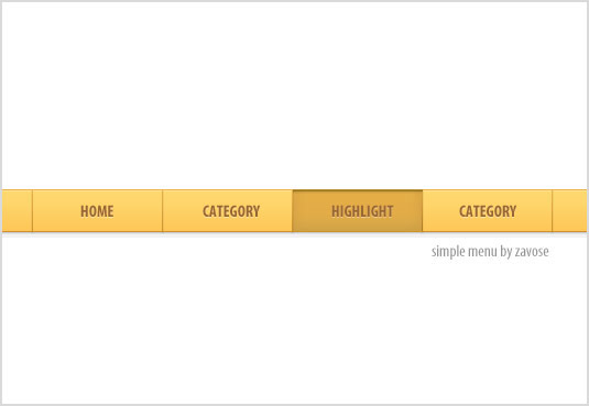 Modern, Simple Navigation Menu: Free PSD Download